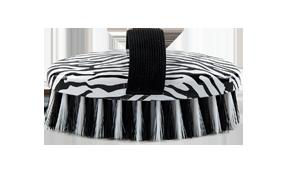 Lettia Collection Zebra Print Body Brush