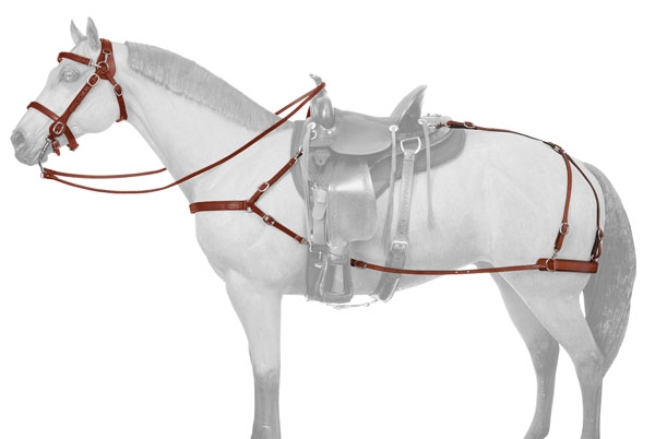 Tough-1 Leather Mule 4 Point Breastcollar