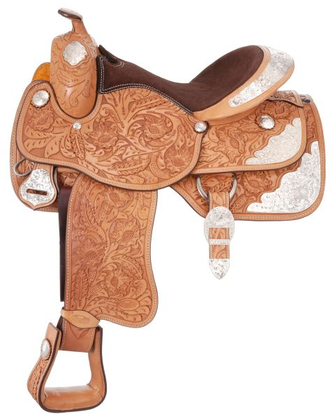 Silver Royal Youth Grand Majestic Silver Show Saddle