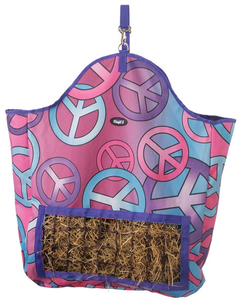 Tough-1 Slow Feed Hay Pouch - Candy Peace Print