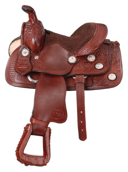 King Series 8'' Mini West Trail Conchos Saddle Package