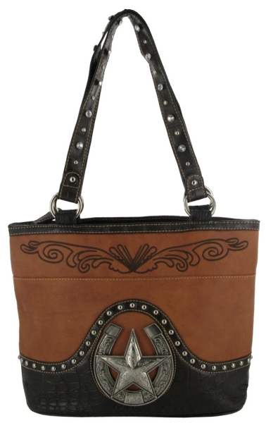 P & G Collection Star with Horseshoes Purse