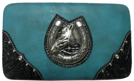 P & G Collection Horseburst with Horseshoe Wallet