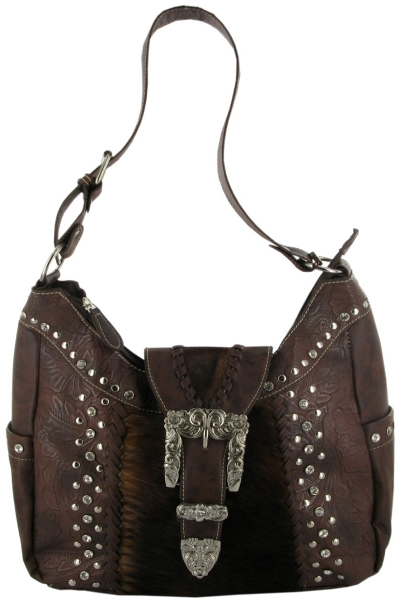 P & G Collection Cowhide Hobo Bag