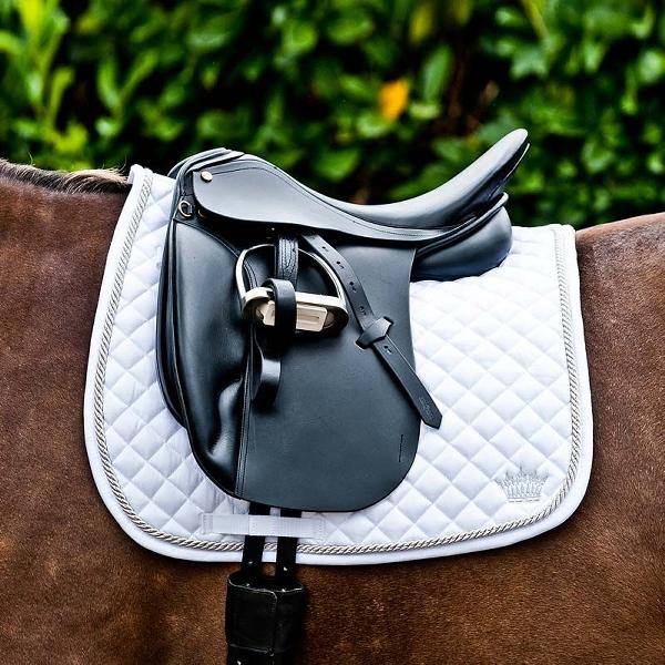 HorZe Silver Cord Saddlepad Dressage