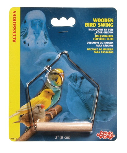 Living World Wooden Perch Swing Bird Toy