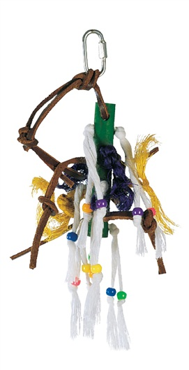 Living World Junglewood Small Wood Peg with Rope Bird Toy