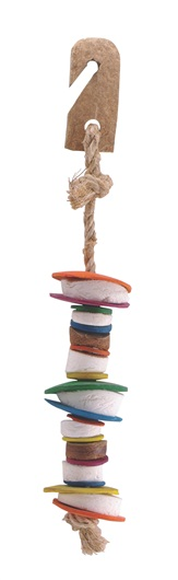 Living World Nature's Treasure Coco Shell Tower Bird Toy