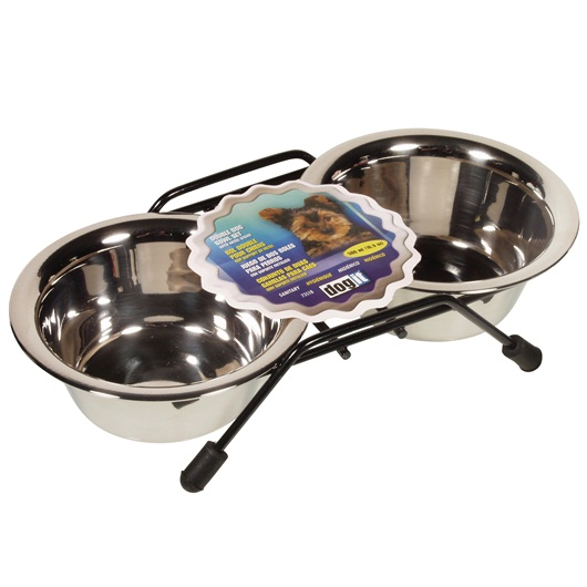Dogit Stainless Steel Double Diner Dog Feeder
