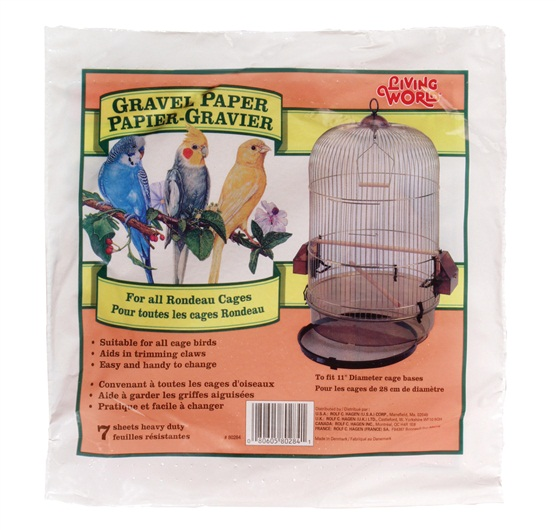 Living World Round Gravel Paper for Bird Cages