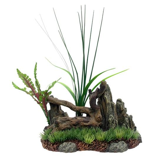 Marina Driftwood Rock Plants