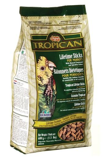 Tropican Formula Parrot Food Sticks