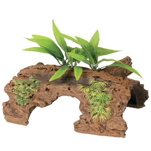 Marina Naturals Malaysian Large 1/2 Driftwood Log with Plants