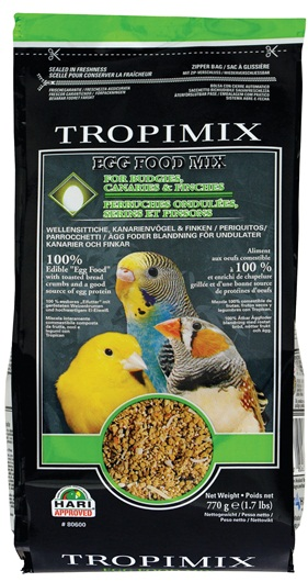 Tropimix Egg Food Mix for Budgies Cararies & Finches