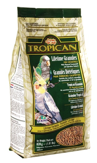 Tropican Lifetime Cockatiel Formula Granules
