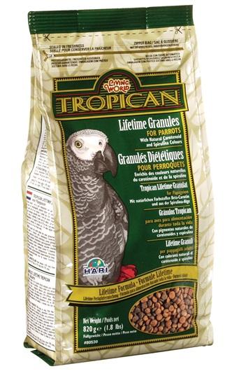 Tropican Lifetime Formula Parrot Granules
