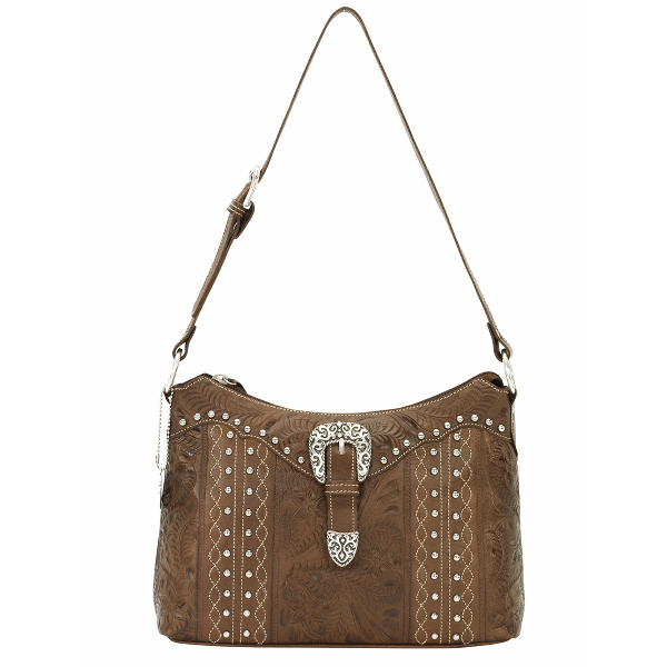 AMERICAN WEST Twisted Trail Zip-Top Shoulder Bag