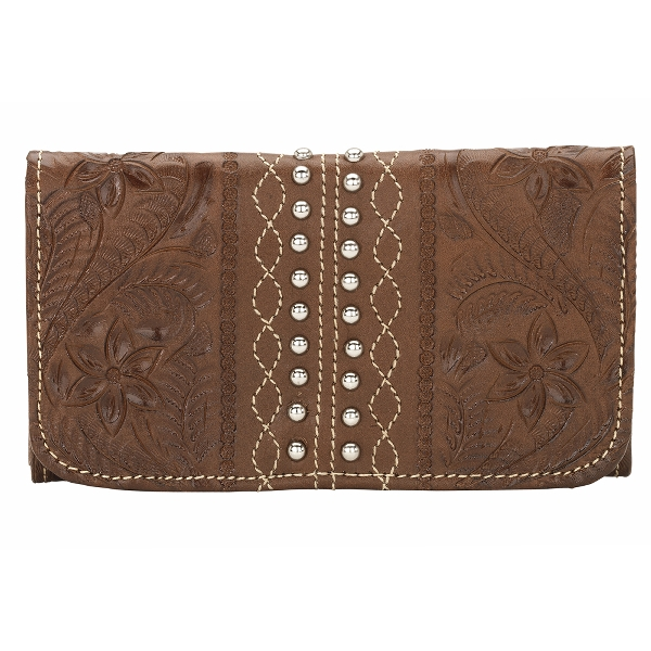 AMERICAN WEST Twisted Trail Ladies Tri-Fold Wallet