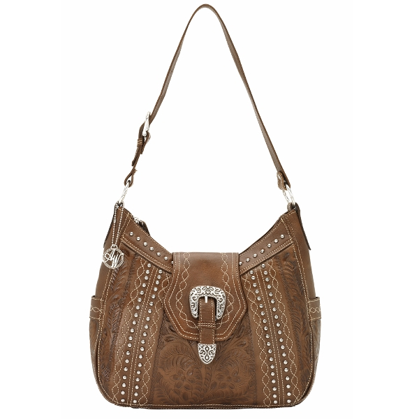AMERICAN WEST Twisted Trail Structured Hobo Handbag