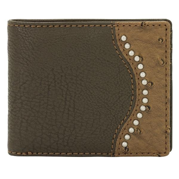 Bandana Lake Tahoe Men's Ostrich Spots Bi-Fold Wallet