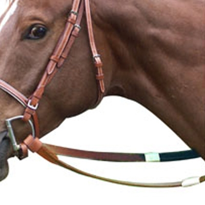 Leather Racing Reins with Rubber Grip