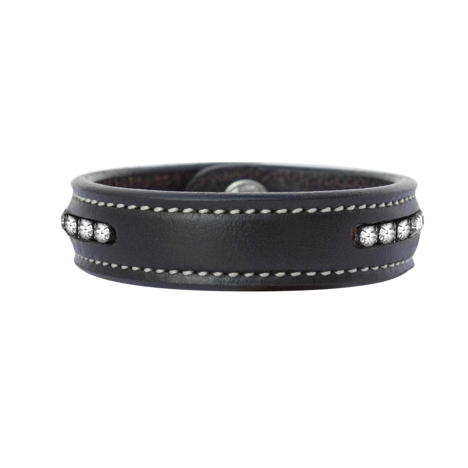Perri's Crystal Leather Bracelet