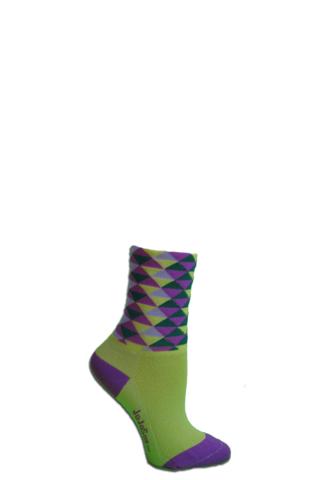 JoJoSox Ladies' Paddock Tuff Cuff Coolmax Sock - Girls Best Friend - Funky Jazz