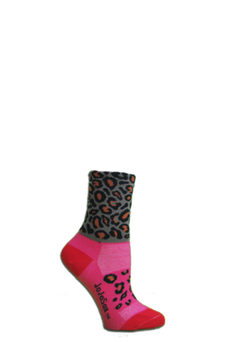 JoJoSox Ladies' Paddock Tuff Cuff Coolmax Sock - Leo Leopard - Big Apple