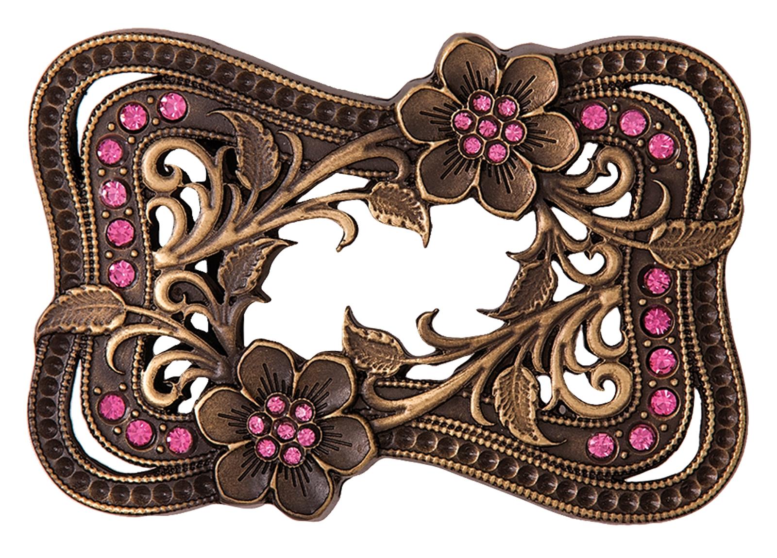 Montana Silversmiths Wild Roses Heritage Attitude Buckle Frame