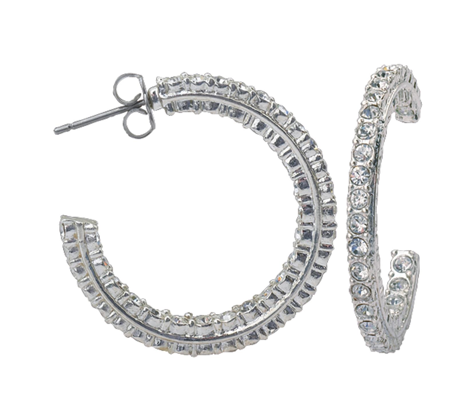 Montana Silversmiths Crystal Inside Out Hoop Earrings