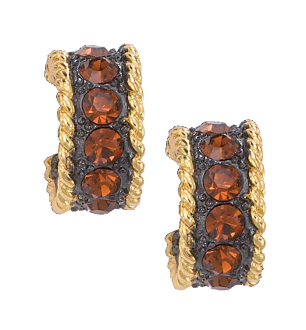 Montana Silversmiths Topaz Crystal Shine Small Hoop Earrings