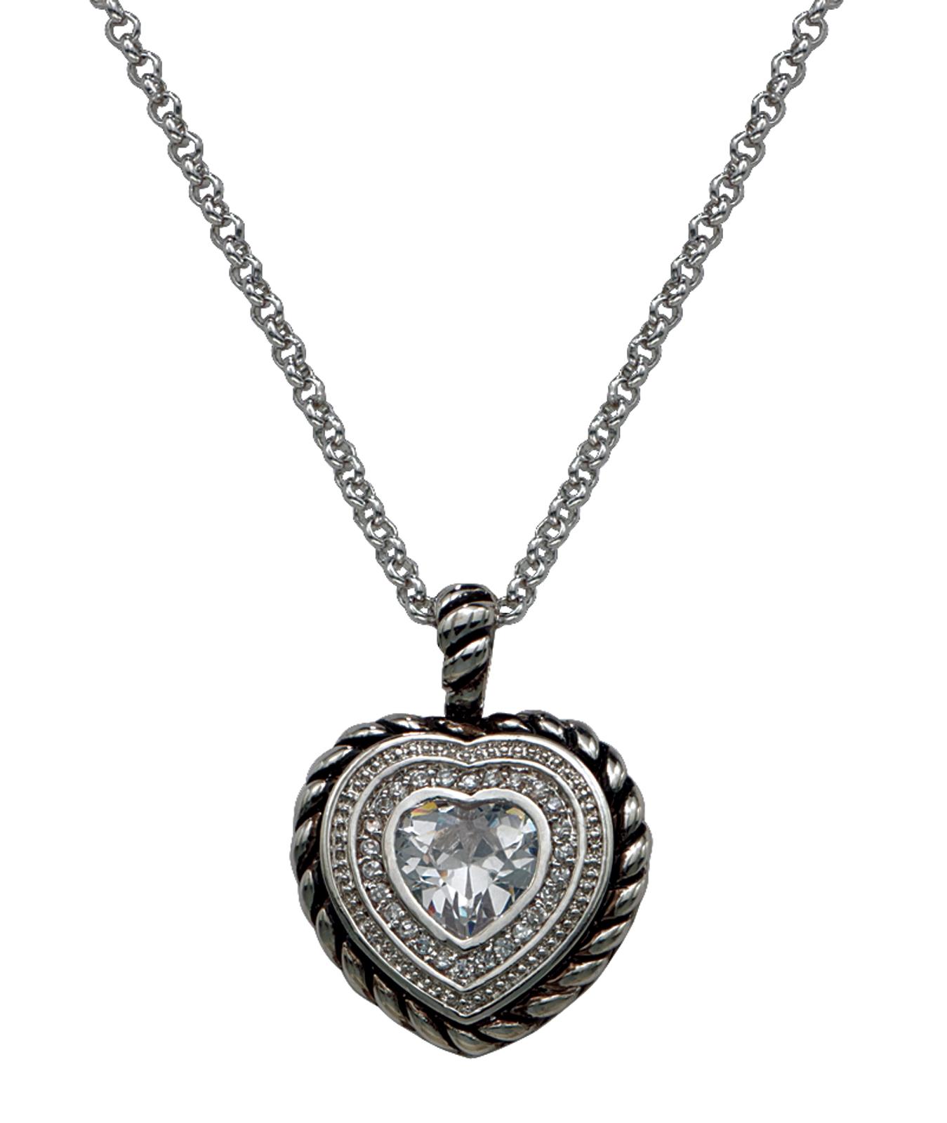 Montana Silversmiths Crystal Heart InofHeart InofHeart Pendant Necklace