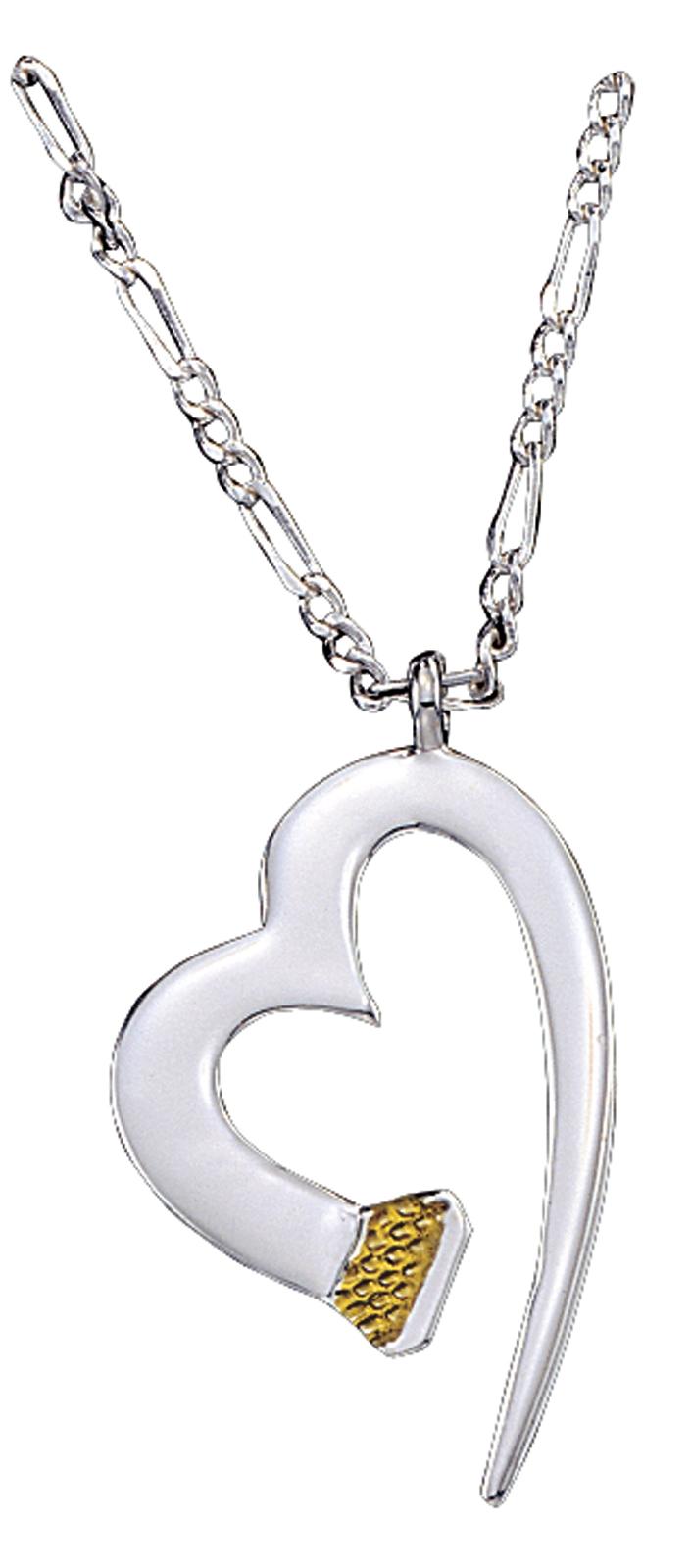 Montana Silversmiths Horseshoe Nail Heart Necklace