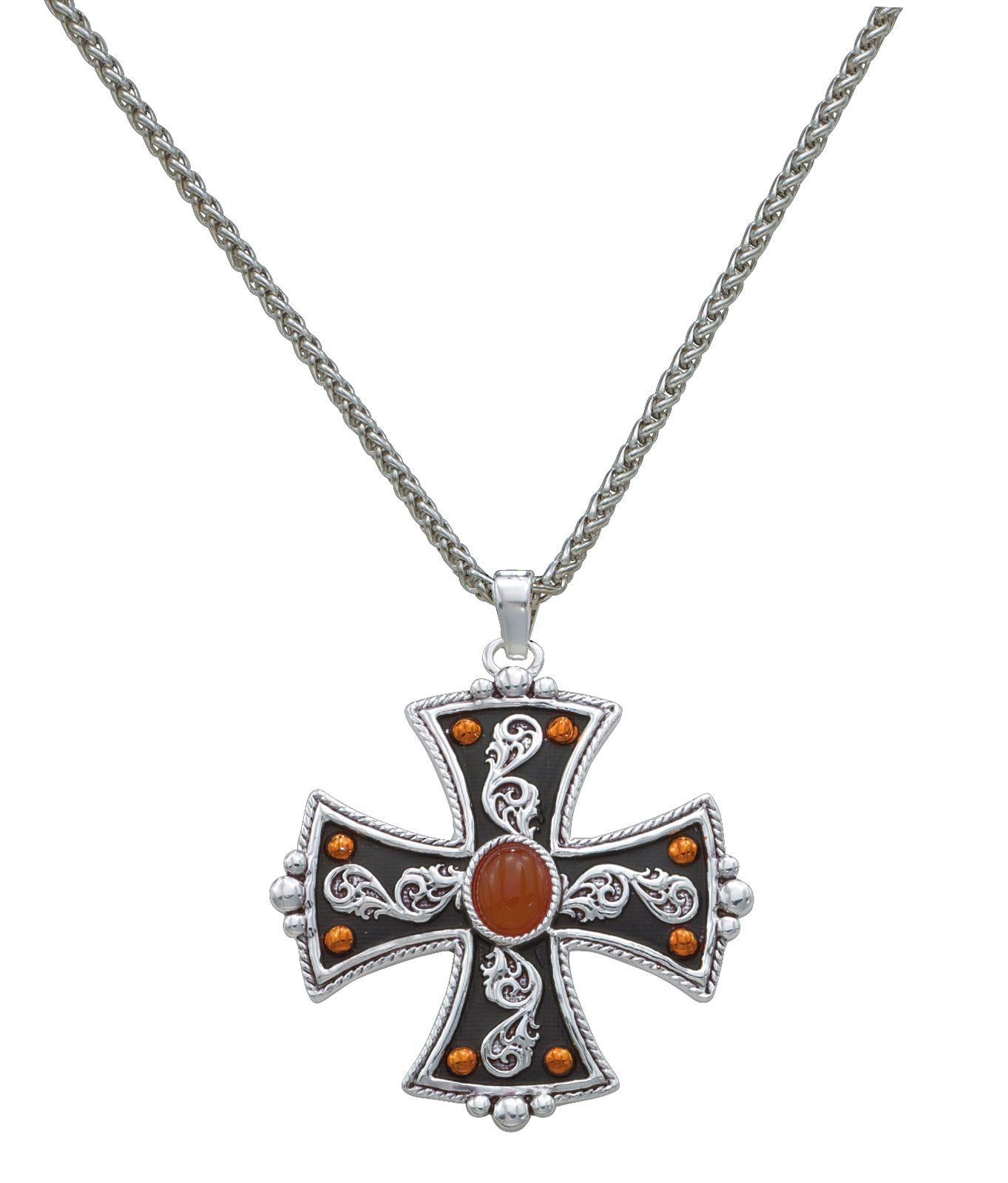 Montana Silversmiths St. George's Cross with Amber