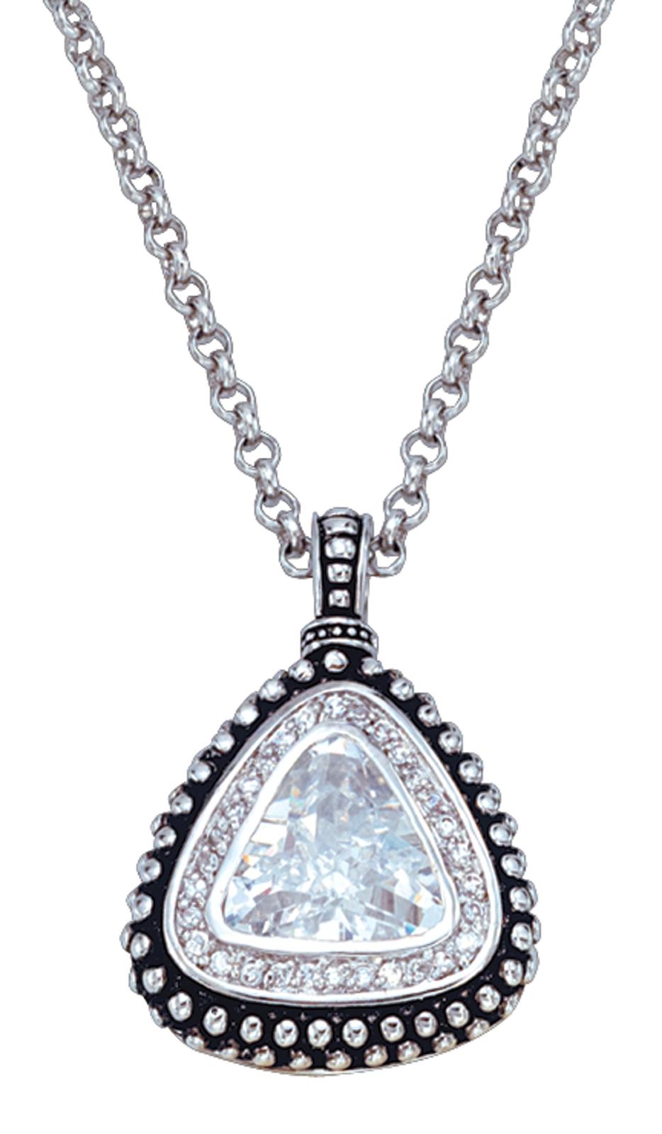 Montana Silversmiths Western Drop Triangle Pendant Necklace