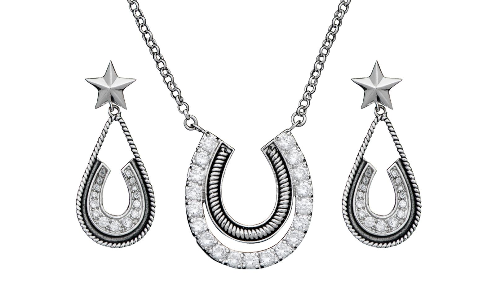 Montana Silversmiths Vintage Charm Pony Trekker Jewelry Set