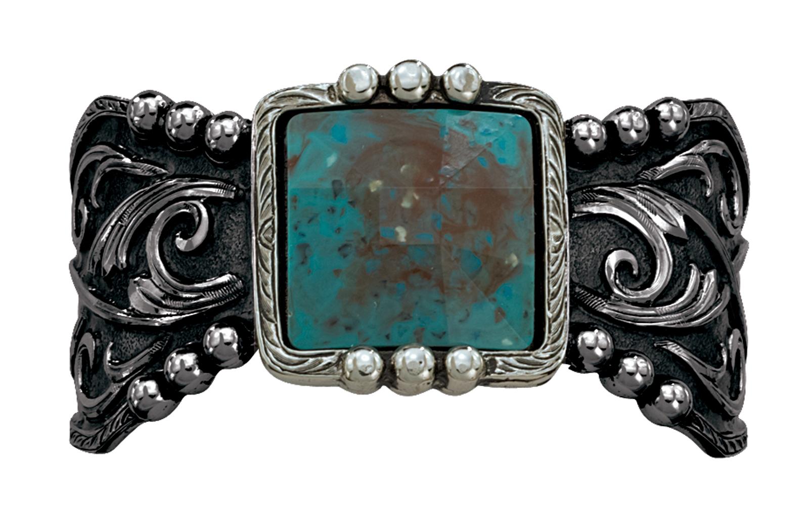 Montana Silversmiths Blue Earth and Filigree Cuff Bracelet