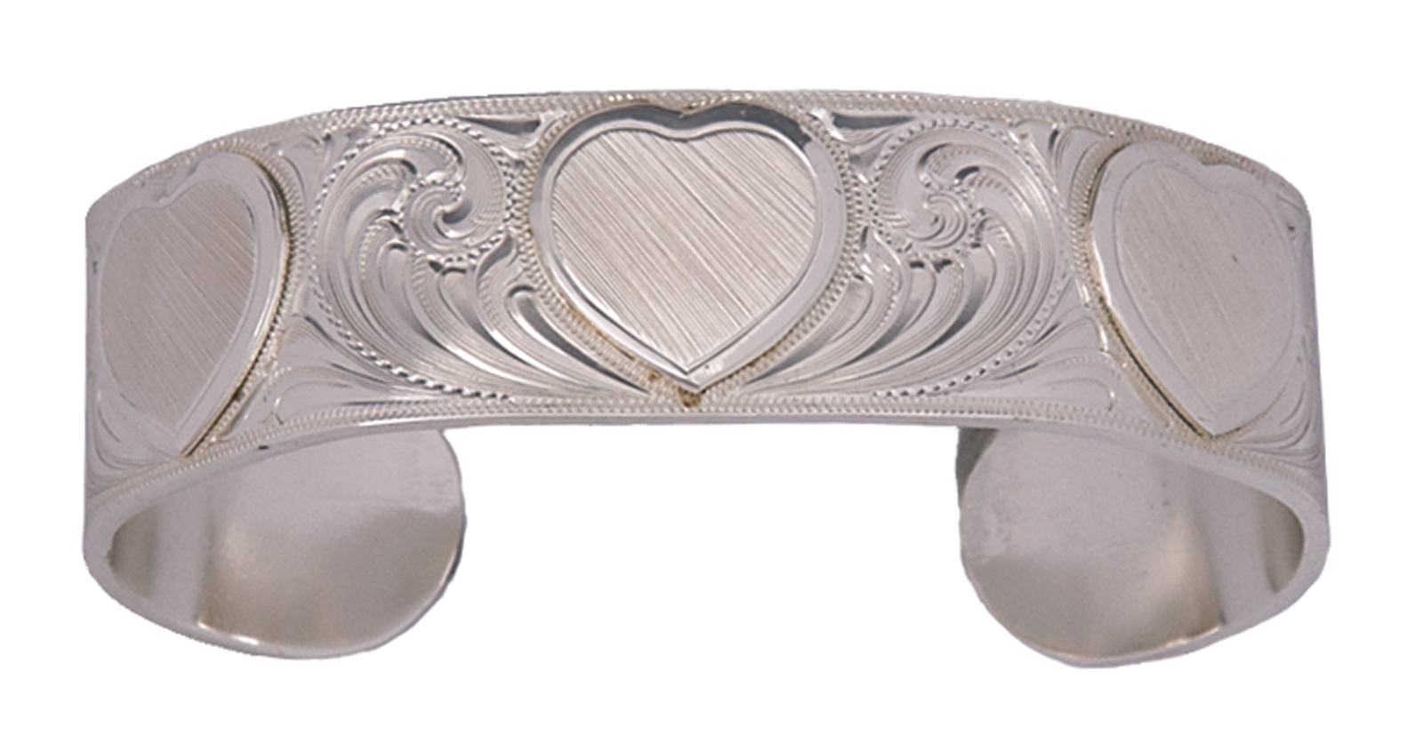 Montana Silversmiths Simple Love Etched Hearts Silver Cuff Bracelet