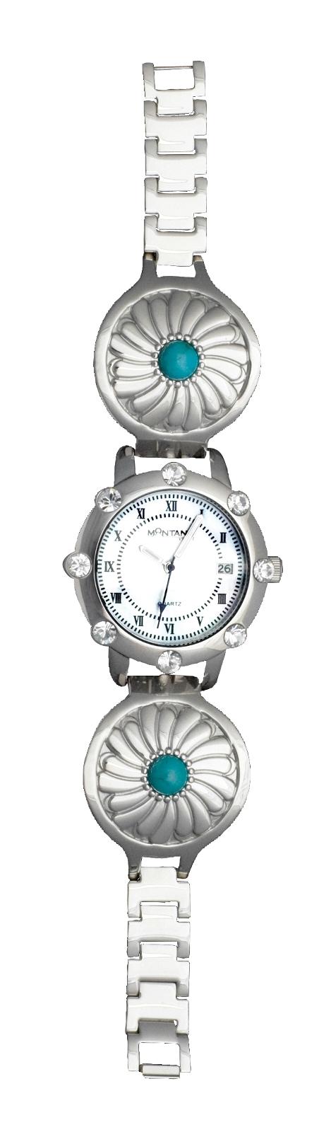 Montana Silversmiths Desert Flower Concho Bracelet Watch