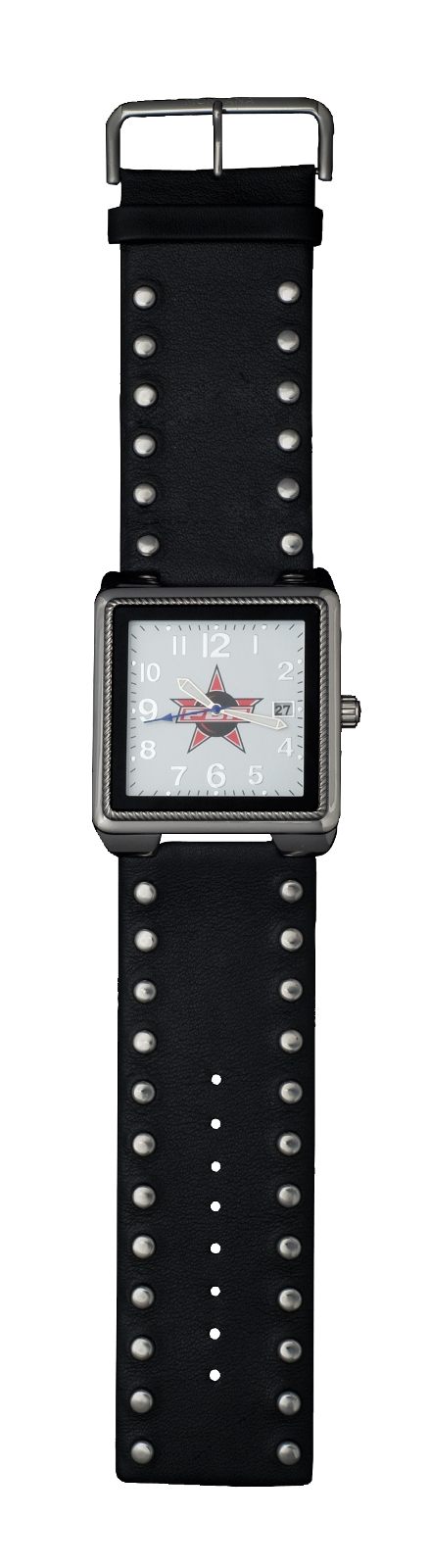 Montana Silversmiths PBR Square Face and Studded Leather Watch