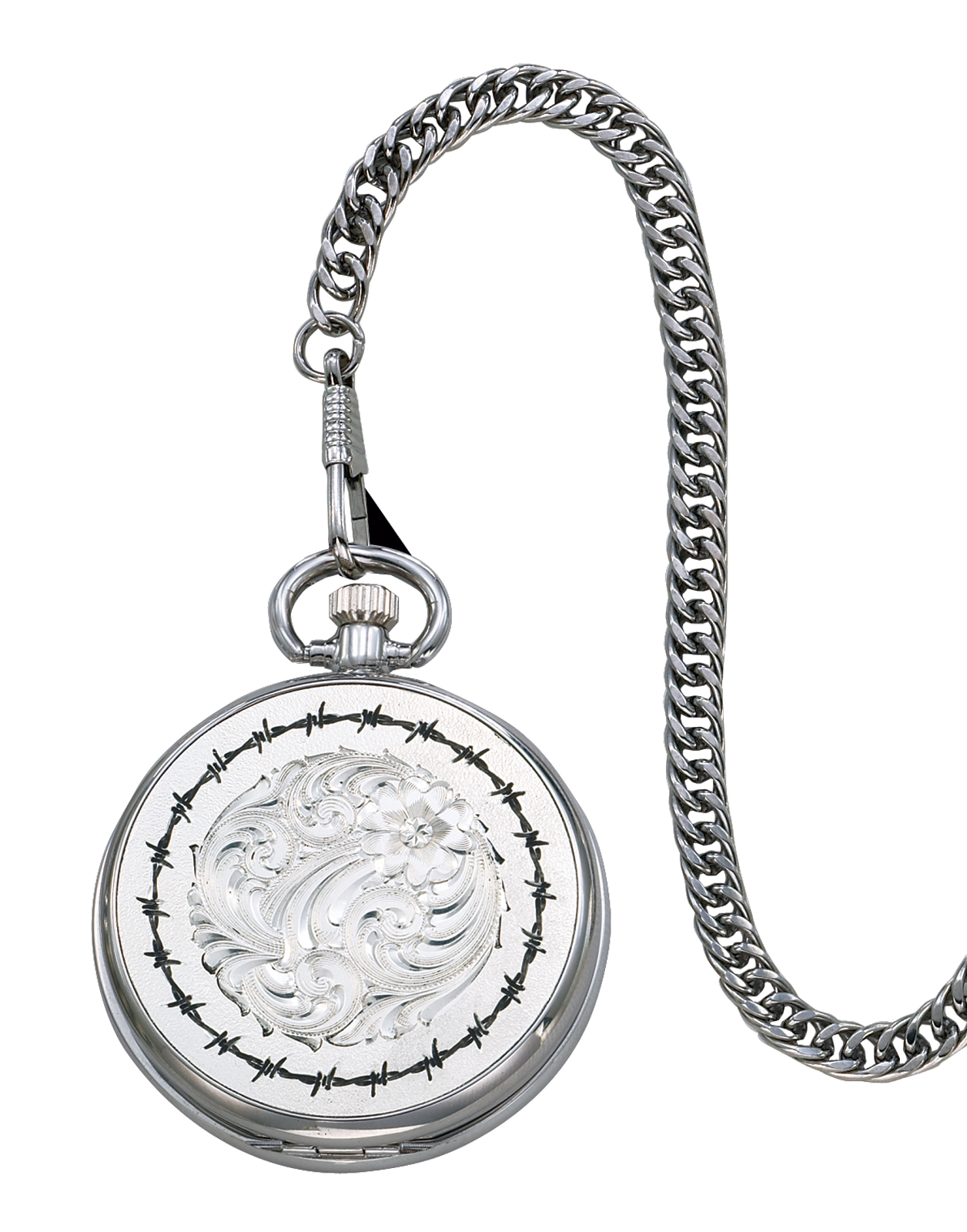 Montana Silversmiths Barbed Wire Pocket Watch