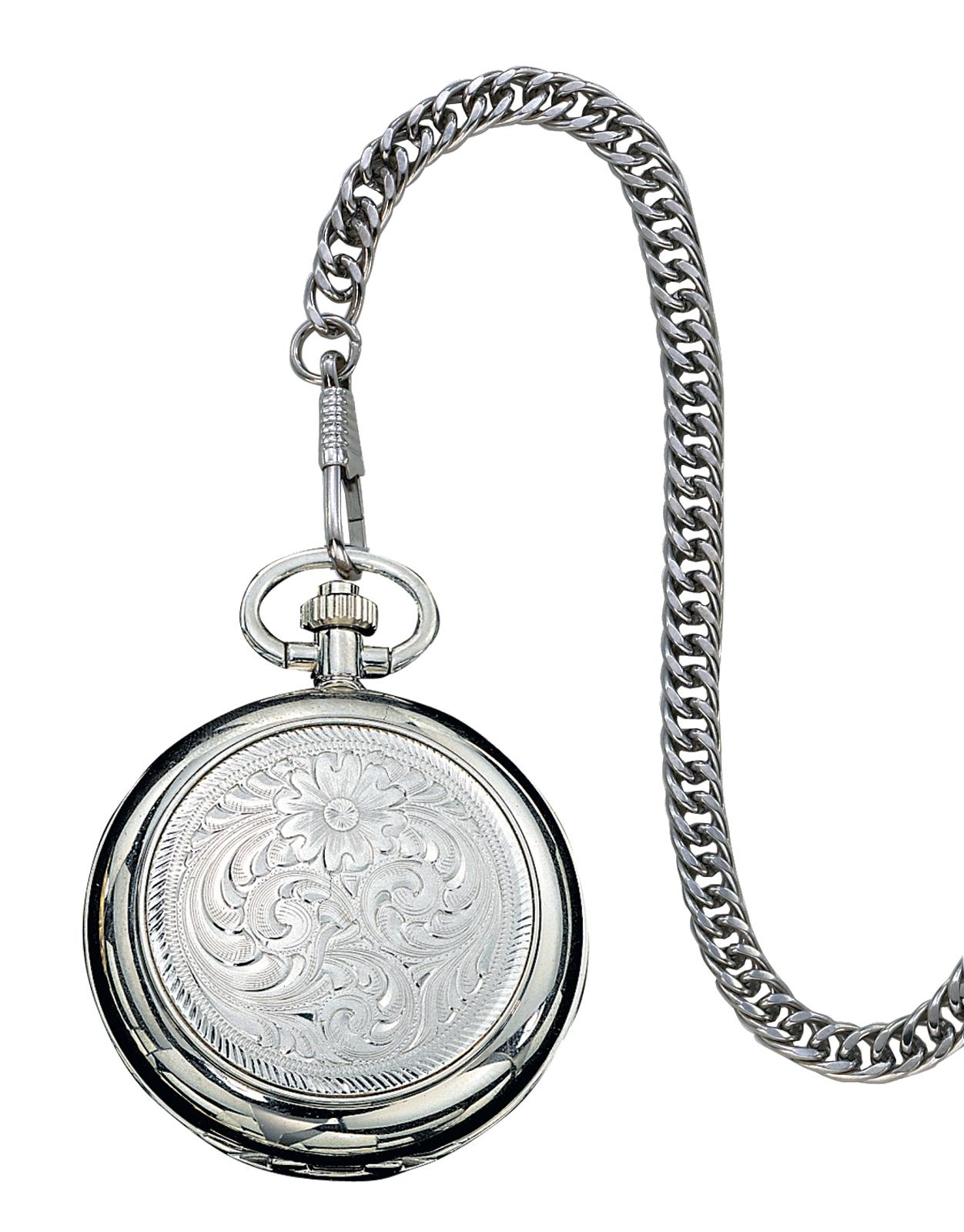 Montana Silversmiths Engraved Silver Watch