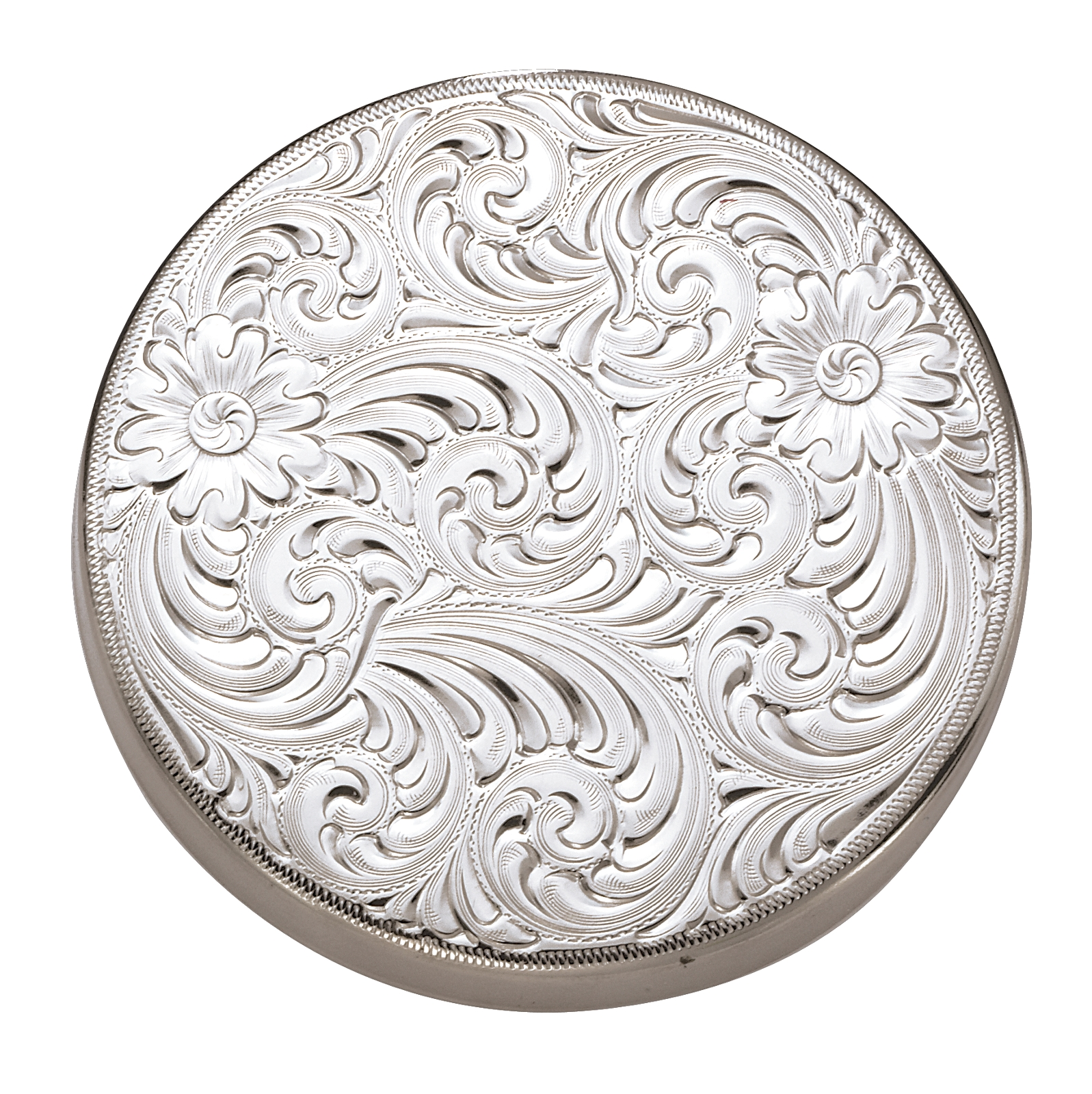 Montana Silversmiths Silver Engraved Snuff Can Lid