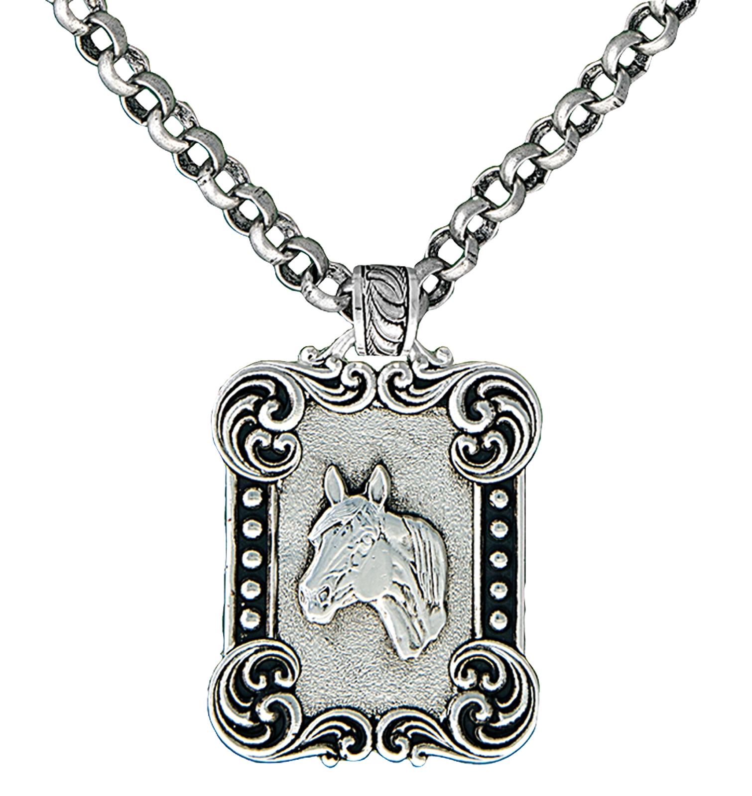 Montana Silversmiths Western Deco Rider's Cameo Necklace