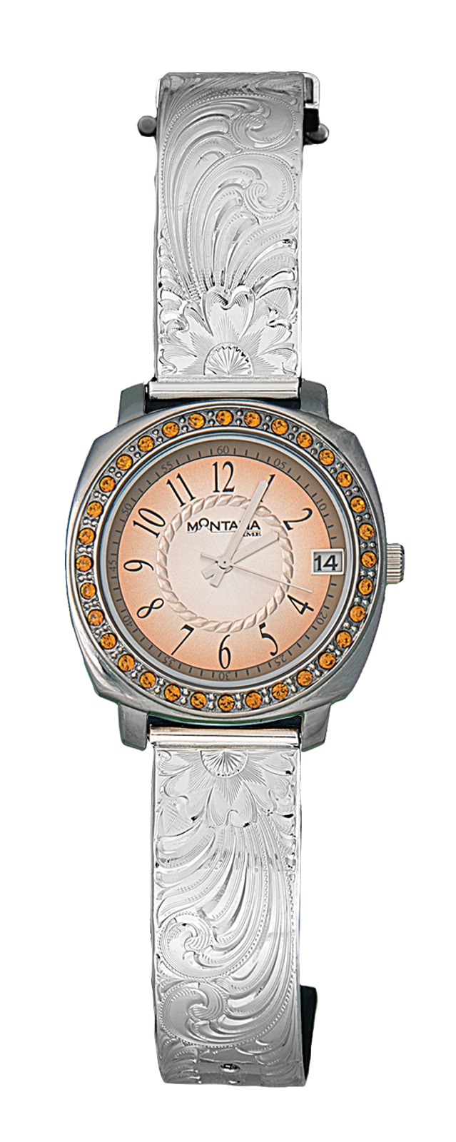 Montana Silversmiths Dress Western Sunset Roping Watch, Medium