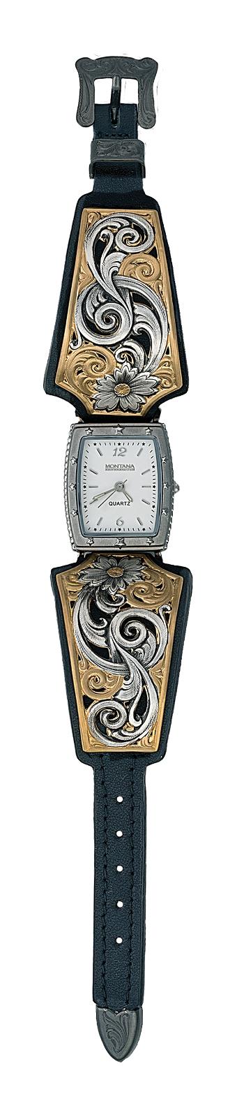 Montana Silversmiths Bitterroot Posey Cuff Bracelet Watch