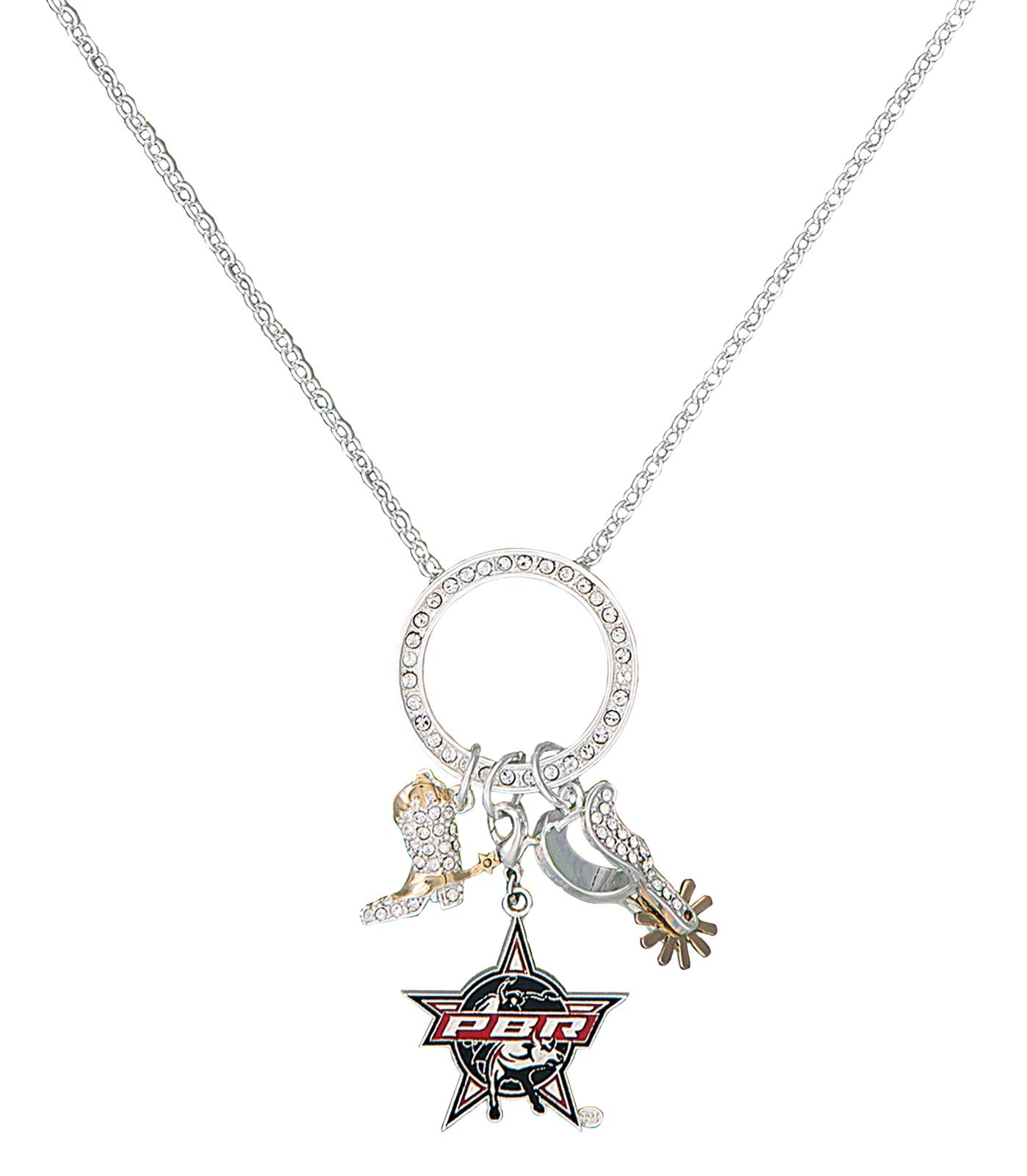 Montana Silversmiths PBR Circle Charm Necklace
