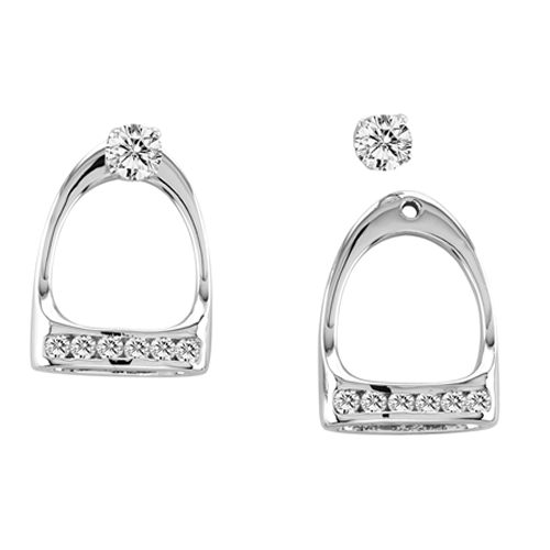 Kelly Herd 14K Gold English Iron Earring Jackets