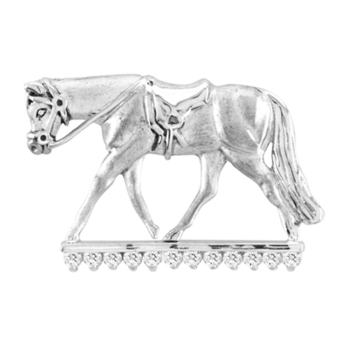 Kelly Herd .925 Sterling Silver English Horse Pendant