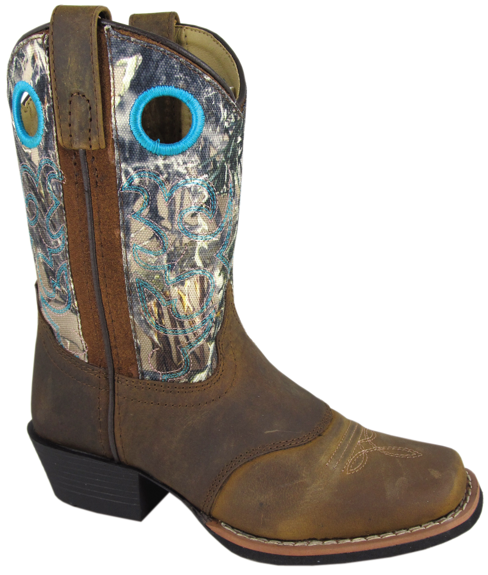 Smoky Mountain Child's Sedona Camo Leather Western Boot